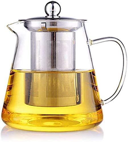 Tetera Tetera de Hierro Fundido Tetera de Vidrio Transparente con colador y Tapa de infusor de Acero Inoxidable para té Suelto 450 ml Accesorios de té (tamaño: 750 ml)