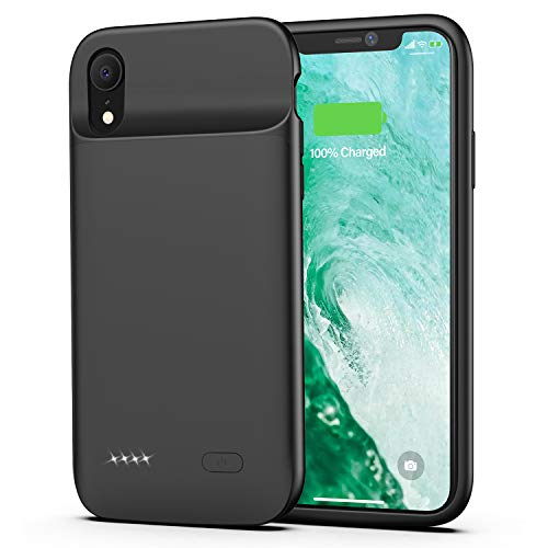 Battery case for iPhone XR, 5000mAh Charging Case Rechargeable Charger Case for iPhone XR(Black)
