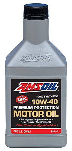 AMSOIL 100% Synthetic 10W-40 Premium Protection Motor Oil (1 Quart)