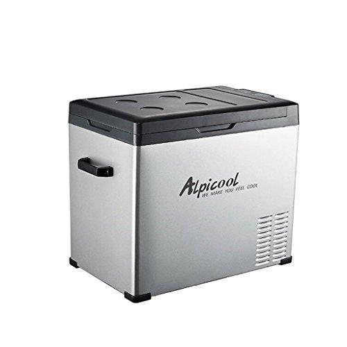LJ Congelatore per frigorifero portatile a compressore, 12 V / 24 V / 220 V - Grigio/Nero (dimensioni : 75L)