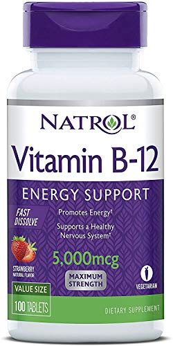 Vitamina B12 5000mcg 100tbs Natrol Sublingual