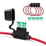Nilight GA0004 5Pack 12AWG Inline Wiring Harness 12 Gauge ATC/ATO Automotive Holder with 3...