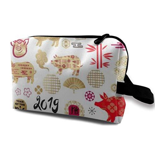 Make-up-Tasche Kosmetiktasche Happy New Year Orientalischer Stil Japanische Graffiti...