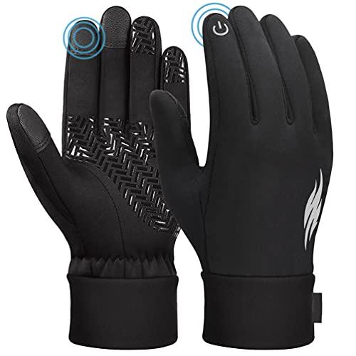 Handschuhe Damen Winter Fahrradhandschuhe Touchscreen - Anti-Rutsch Winter Thermohandschuhe mit Fleece für Arbeits Fitness Outdoor Sport Joggen Running Fahrrad Winterhandschuhe