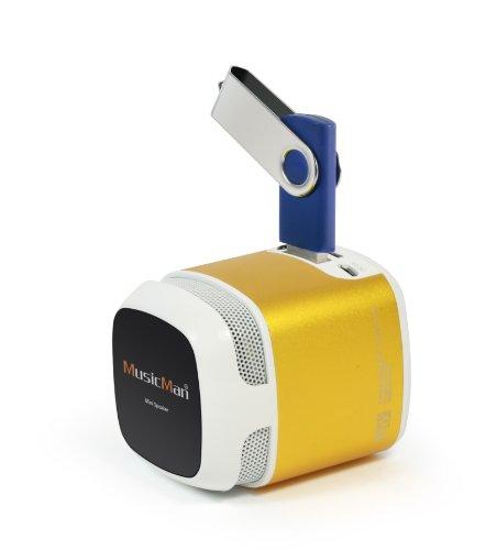 MusicMan 4247 X6 Makro Soundstation Lautsprecher (microSD-Kartenslot, 3,5mm Buchse, 3 Watt, USB) Gold