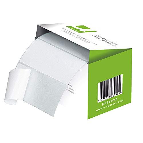 Q-Connect Easi Peel adressetikett – rulle med 200 Enda Pack of 200 Vitt