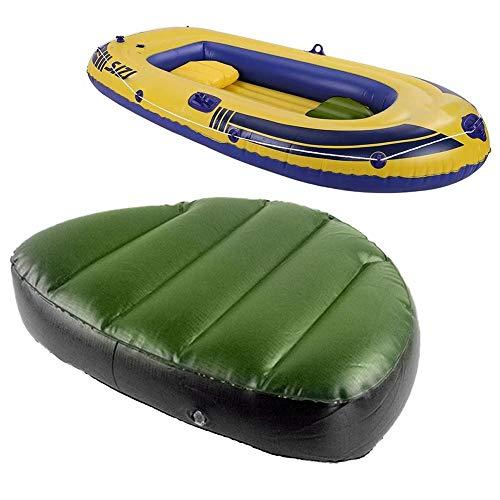 SmallPocket Aufblasbares Kajak-Sitzkissen, wasserdicht, verschleißfest, bequemes, aufblasbares Sitzpolster für Kajak-Kanu-Fischerboot, tragbares Leichtgewicht, für 2/3 Personen