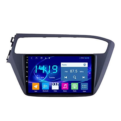 Dscam Car Stereo Android 9.1 Car Stereo GPS Navigation para Hyundai I20 2018-2019 Pantalla táctil de 9 Pulgadas Soporte WiFi 4.0 Bluetooth