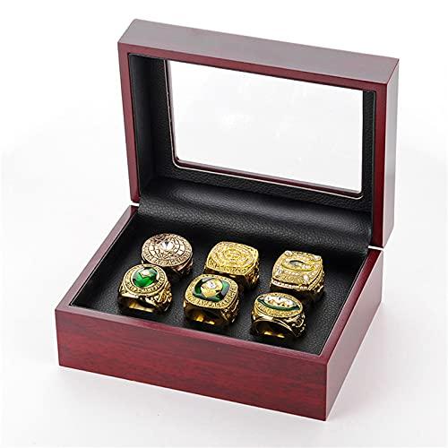 Ring Championship Ring NFL Green Bay Packers Set de 6 años, para fans colección conmemorativa o regalo, 11