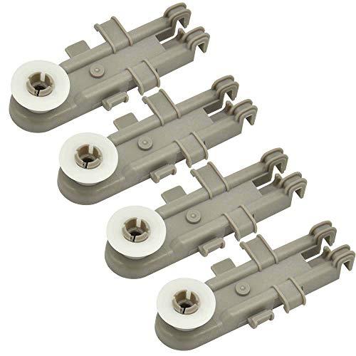 Homhelper 8268655 - Ruedas de repuesto para estante superior WP8268743 WP8268743VP AP6012252, compatible con Kenmore, KitchenAid y más lavavajillas (4 unidades)