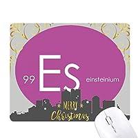 元素元素周期表 クリスマスイブのゴムマウスパッド