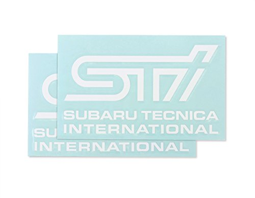 SUBARU/スバル STI【ステッカーB(ホワイト)】2枚入り STSG14100280