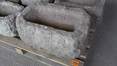 Der Naturstein Garten Alter Trog aus Granit 56 cm lang Brunnen Steintrog - G1495 Granittrog Waschbecken