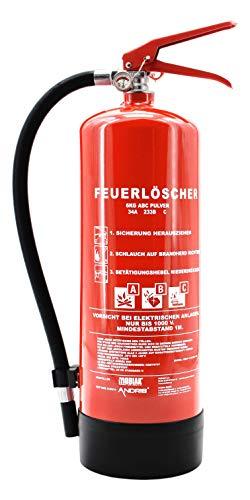 Orig. ANDRIS® Feuerlöscher 6kg ABC Pulver-Feuerlöscher der Profi mit 10 LE für Handwerk, Gewerbe und Industrie mit ANDRIS® Prüfnachweis