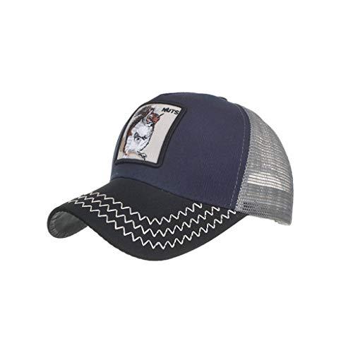 ACEBABY Gorras de Hombre Verano Gorras Animales Búho Gorras de Hombre Beisbol Gorras Mujer Sombrero Casual Bordado de Animales (Ardilla)