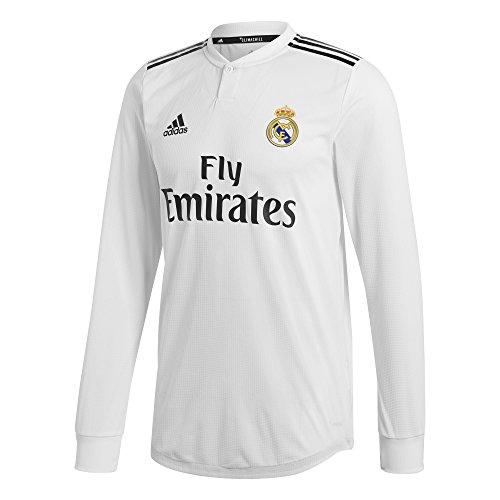 adidas Real H JSY AU L - Camiseta de Manga Larga 1ª equipación Real Madrid, Hombre, Multicolor(BLABAS/Negro)
