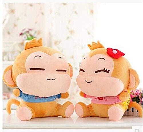 FGBV R ca. 18 cm AFFE Plüschspielzeug liebt Yoyo und Cici Affen Puppen EIN Satz / 2 Stück Puppen Baby Geschenk W6189 Manmiao