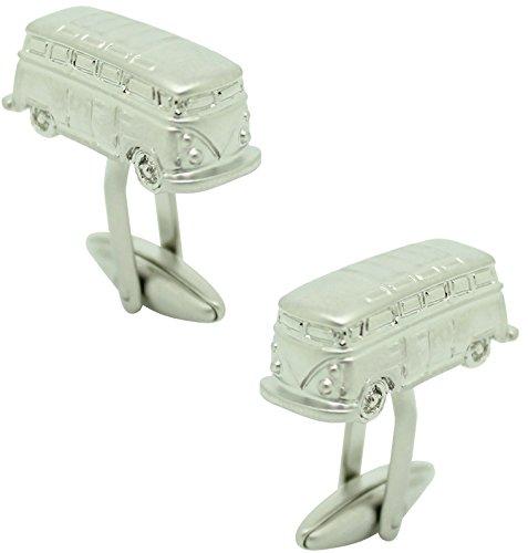 masgemelos Transporter VW Silber 3d Manschettenknöpfe Cufflinks