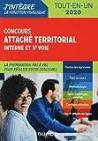 Concours Attaché territorial Interne et 3e voie- Tout-en-un - 2020