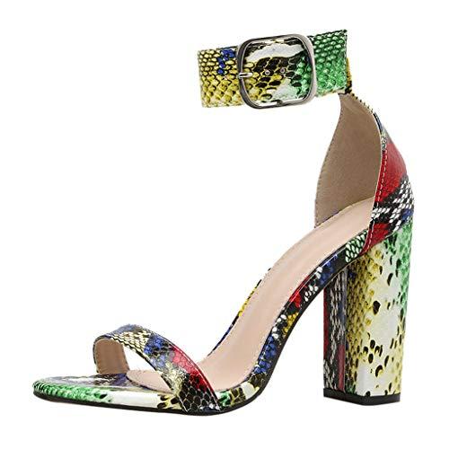 New KANGMOON Women's Platform Heeled Sandals Peep Toe Slingback High Heel Pumps Stilettos Sandals Dr...