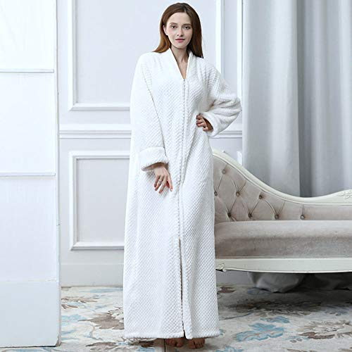 DPKDBN Badjas voor dames, flanel, warm, badjas, badjas met capuchon