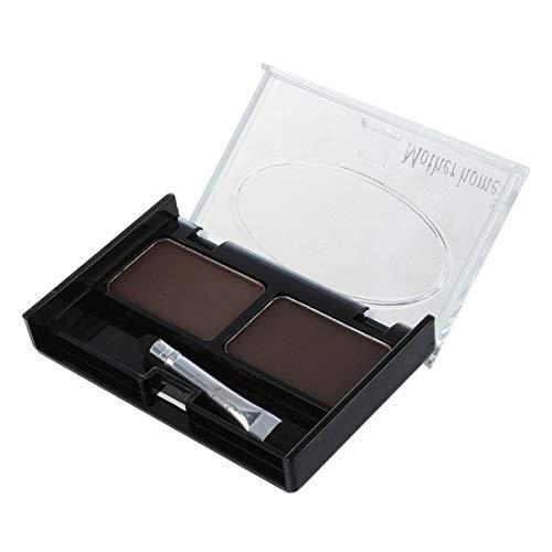 MERSUII Pochoirs a sourcils & Multicolore Pour Sourcils Hydrofuge Faconner Fard a Paupieres Poudre - Cafe et Brun