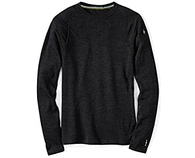 Smartwool Men's NTS Mid 250 Crew Top Charcoal Heather LG