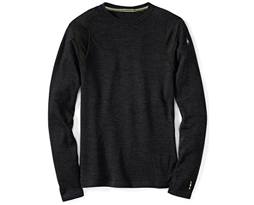 Smartwool Men's NTS Mid 250 Crew Top, Charcoal Heather, MD