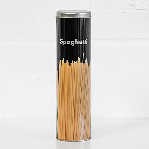 Contenitore per spaghetti nero alto 28 cm contenitore da cucina contenitore per pasta con coperchio
