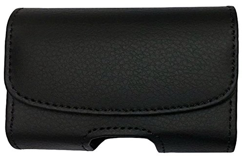 Premium Classic Style Pouch case with Belt Clip for Dexcom G5 Mobile CGM Receiver (Mobile Continuous Glucose Monitoring) (Black/Horizontal/1)