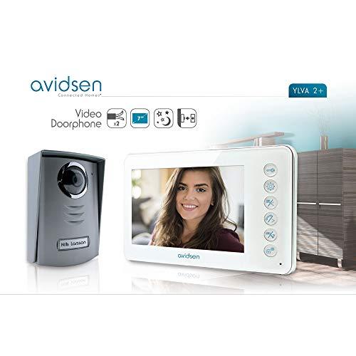 Avidsen - Visiophone 2 fils Ylva 7 Blanc - Discussion possible avec votre invité