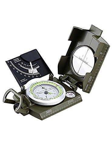 MIL-COM 7 en 1 Survie Sifflet Militaire Boussole Thermomètre DEL MIROIR LUMINEUX