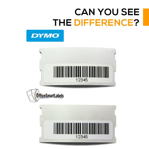 "OfficeSmartLabels - 1/2"" x 1-7/8"" Multipurpose/Library Barcode Labels, Compatible with Dymo 30346 (4 Rolls - 600 Labels Per Roll) Photo #2"