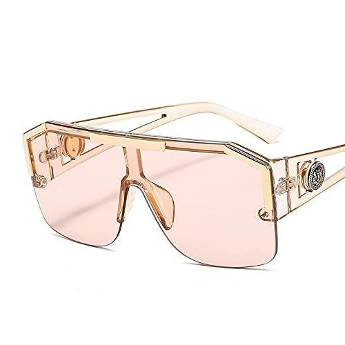 FENGHUAN Gafas de sol cuadradas Gafas desol delujoLente de color femenino Marco de aleaciónGafas de sol de conductor C5