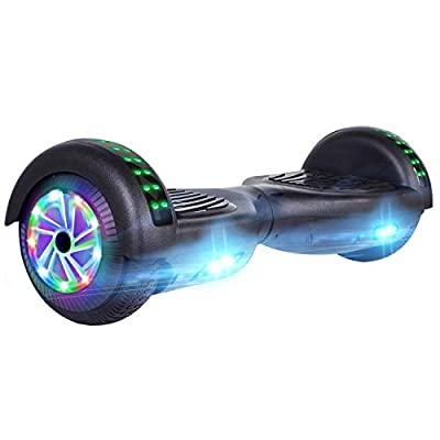 "UNI-SUN 6.5"" Hoverboard for Kids, Two Wheel Electric Scooter, Self Balancing Hoverboard with Bluetooth and LED Lights for Adults, UL 2272 Certified Hover Board?Glossy Black?"