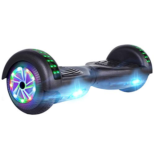 UNI-SUN 6.5'' Hoverboard for Kids, Self Balancing Hoverboard with Bluetooth and LED Lights, Bluetooth Hover Board, Black