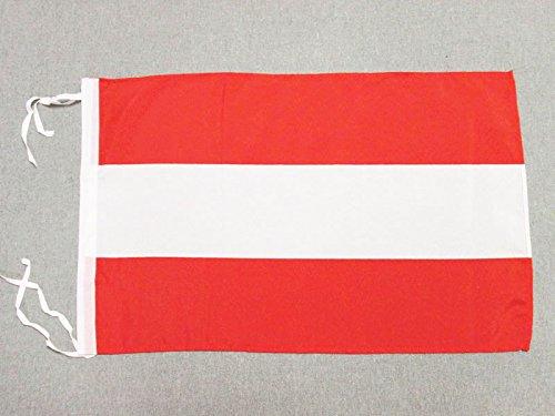 AZ FLAG Flagge ÖSTERREICH 45x30cm mit Kordel - ÖSTERREICHISCHE Fahne 30 x 45 cm - flaggen Top Qualität
