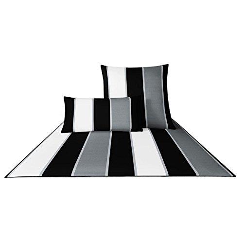 Joop! Bettwäsche Lines 4055 Schwarz-Weiß - 0 80x80 cm - 155x220 cm