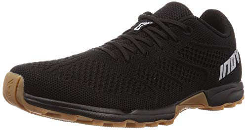 Inov-8 Mens F-Lite 245 - Cross Trainer Shoes - Lightweight and Comfortable Running Sneakers - Black/Gum - 12