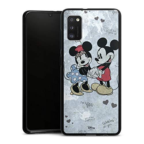 DeinDesign Silikon Hülle kompatibel mit Samsung Galaxy A41 Case schwarz Handyhülle Offizielles Lizenzprodukt Minnie Mouse Mickey Mouse