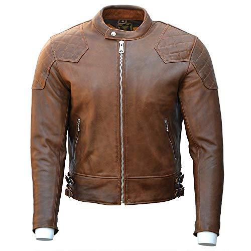 Goldtop Chaqueta de motocicleta de piel aprobada por la CE AAA