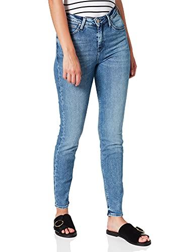 Lee Scarlett High, Vaqueros Skinny para Mujer, Azul (Cool Daze XV), W28/L31