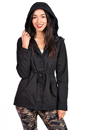 Pink Ice Women's Cargo Style Hoodie Jacket, black, large