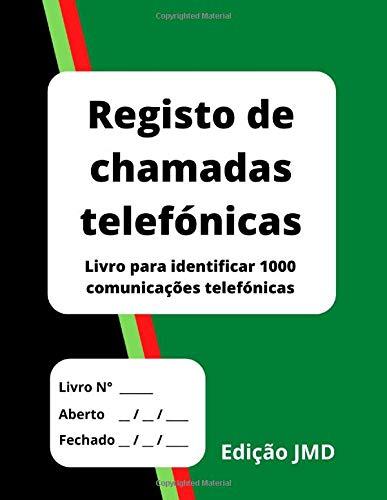 Registo de chamadas telefónicas: Livro para identificar 1000 comunicações telefónicas