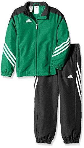 adidas Kinder Trainingsanzug Sereno 14,Top:Twilight_Green/Black/White Bottom:Black/White,164