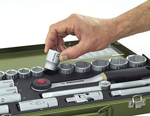 Proxxon 23110 - Set chiavi a tubo, 3/8, 24 pezzi