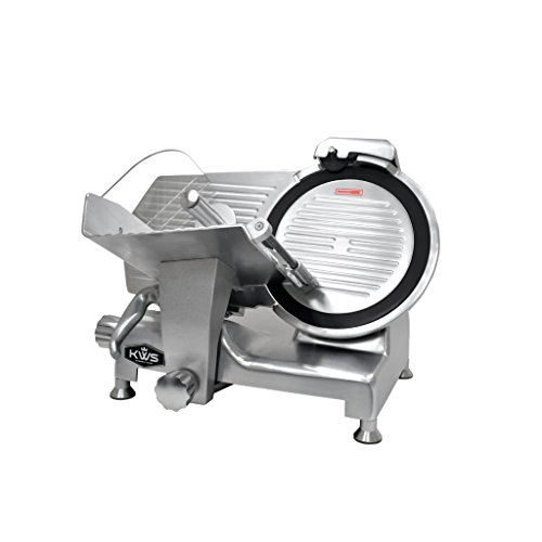 Fantastic Prices! KWS Metal Collection Commercial 420W 12-Inch Meat Slicer MS-12DT Anodized Aluminum...