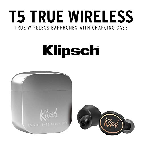 Klipsch Auriculares T5 True Wireless Black, Talla Única