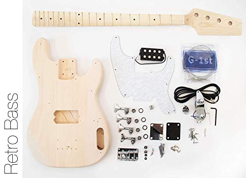DIY Electric Bass Guitar Kit - 70s TL Bass Build Your Own Bass Kit