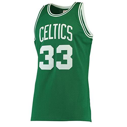 QQA Camiseta Baloncesto para Hombre NBA Retro Camiseta Jugador Baloncesto Jersey Bordado Transpirable y Resistente al Desgaste Camiseta para Fan Larry Bird Boston #33,L